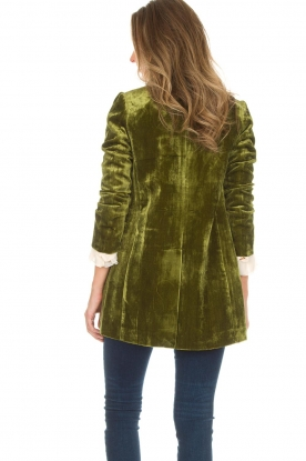 Silvian Heach | Fluwelen blazer Gorgos | groen