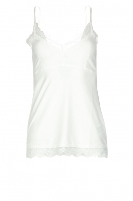 Set |  Sleeveless top with lace Chenna | white
