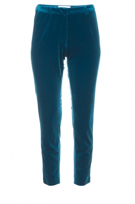 Silvian Heach | Fluwelen broek Serpentine | blauw