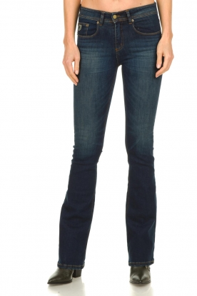 Lois Jeans |  L34 Flared jeans Melrose - Marconi dark wash | blue
