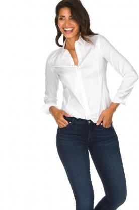 Set |  Classic stretch blouse Maxime | white