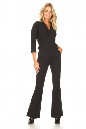 D-ETOILES CASIOPE    Travelwear flair trousers Rodez   black