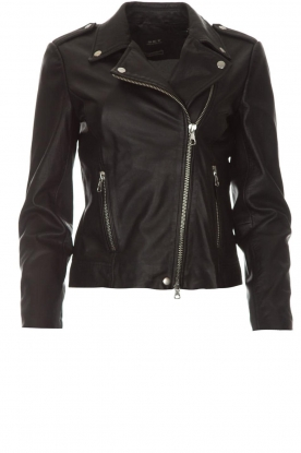 Set | Leather biker jacket Tyler | black