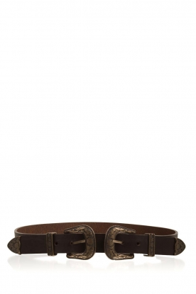 So Jamie |  Leather belt Cassy | brown