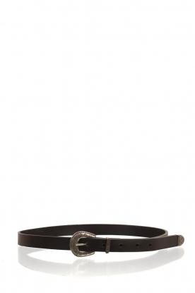 So Jamie |  Leather belt Blaide | black