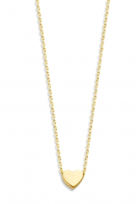 Just Franky | 14k golden necklace Hart | yellow gold