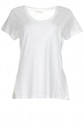 American Vintage | Basic T-shirt with round neck Jacksonville | white