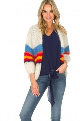 Les tricots d'o   Wollen vest Lily   wit