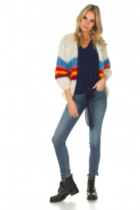 Les tricots d'o | Wollen vest Lily | wit