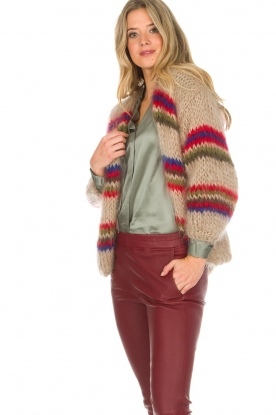 Les tricots d'o |  Wool cardigan Lola | natural