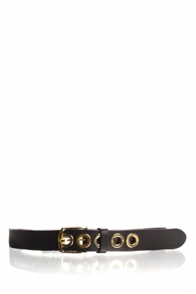 Depeche |  Leather belt Susanne | black