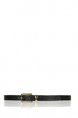 Depeche | Leather belt Danique | black