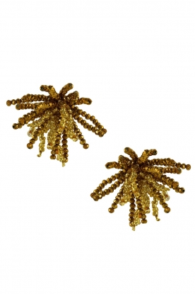 Oorbellen met crystal Ragno  goud