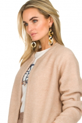Miccy's |  Earrings Disc Chains | black/natural