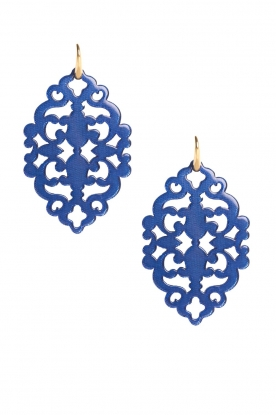 Miccy's |  Earrings Azulejo Ruby | blue
