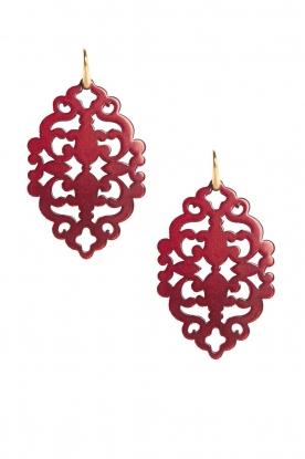 Miccy's | Oorbellen Azulejo Ruby | rood