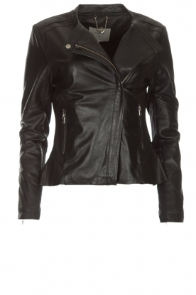 Dante 6 |  Leather biker jacket Osiris | black