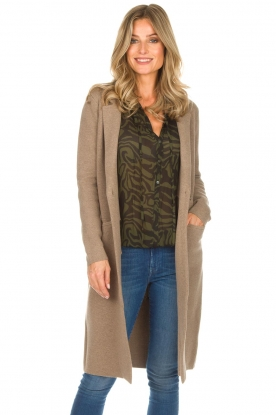 Knit-ted |  Long cardigan Trixie | brown
