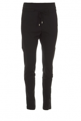D-ETOILES CASIOPE |  Wrinkle free stretch pants Phe Plus | black