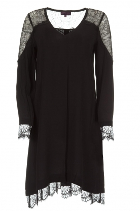 Hale Bob | Dress with lace details Margaret | black