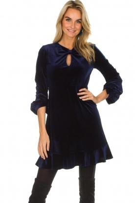 Hale Bob   Fluwelen jurk Emily   donkerblauw