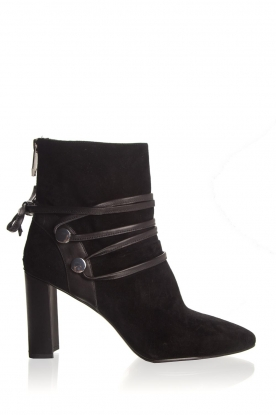 What For |  Leather ankle boots Micky | black