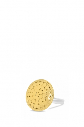 Close to Zen | 22k vergulden ring Earth | goud