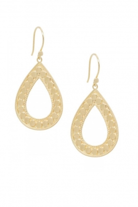 Close to Zen |  22k gold plated earrings Open Heart | gold