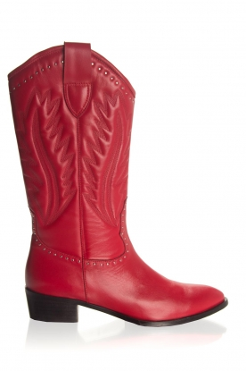 Toral |  Leather boots Jamy | red