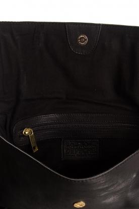 Depeche | Leren schoudertas Ivy | zwart