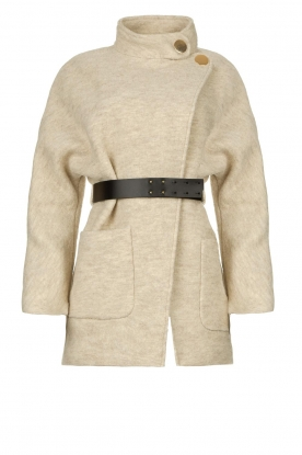 ba&sh | Belted wool coat Calvi | natural