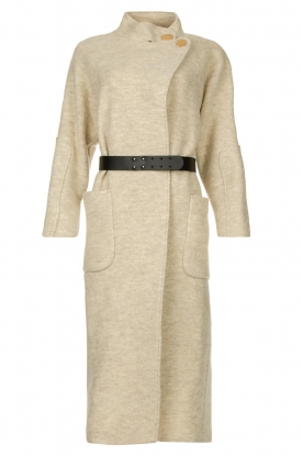 ba&sh | Belted wool coat Come | natural