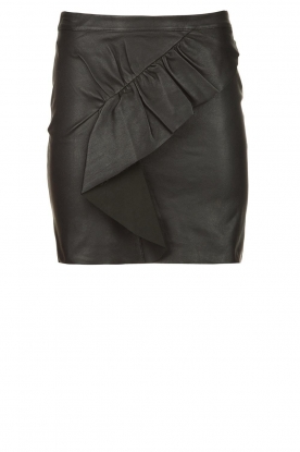 ba&sh | Leather skirt Feria | black