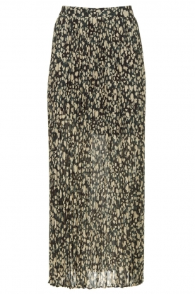 ba&sh | Animal printed maxi skirt Lamba | green