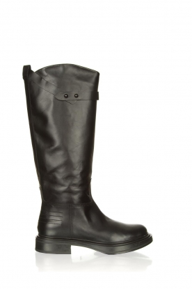 Janet & Janet |  Leather boots Nelly | black