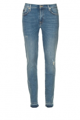 7 For All Mankind |Cropped skinny jeans Unrolled | blauw