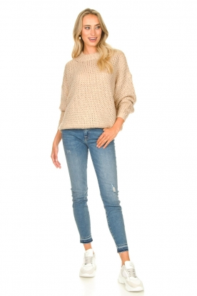 7 For All Mankind | Cropped skinny jeans Unrolled | blauw