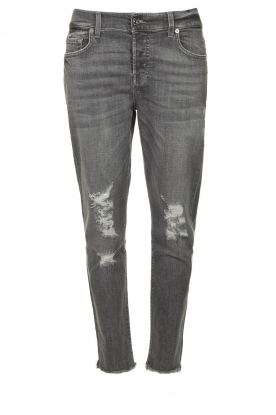 7 For All Mankind |Destroyed boyfriend jeans Asher | grijs