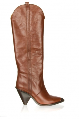 Toral |  Leather knee boots Gan | brown