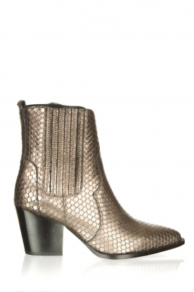 Toral |  Metallic leather ankle boots Jill | metallic