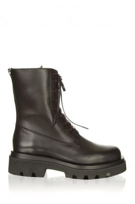Toral |  Leather lace-up boots London | black