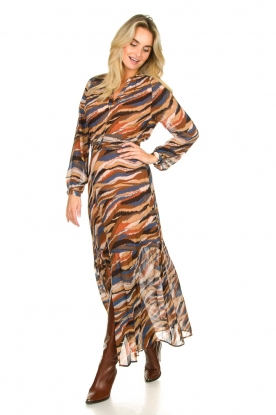 Look Printed maxi dress Carmine