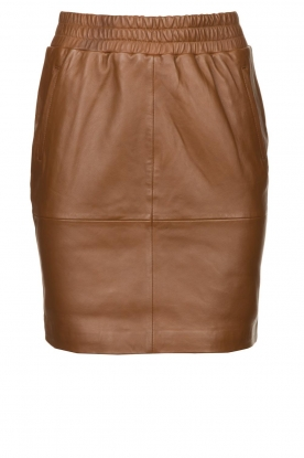 Dante 6 |  Leather skirt Dyna | brown