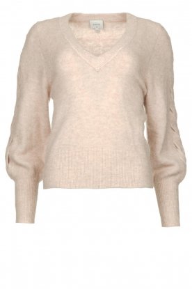 Dante 6 | V-neck sweater with balloon sleeves Broame | naturel