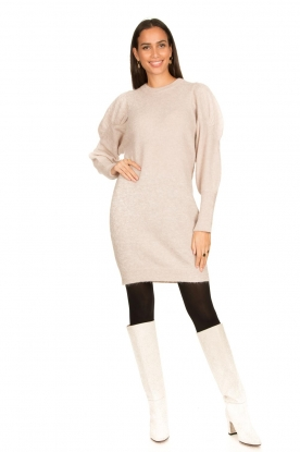 Look Sweater dress with puff sleeves Littal