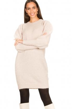 Dante 6 | Trui jurk met pofmouwen Littal | naturel