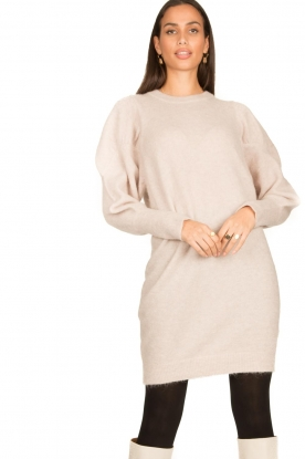 Dante 6 |  Sweater dress with puff sleeves Littal | naturel