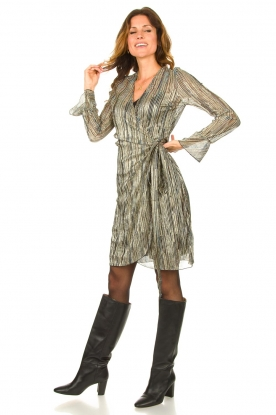 Look Wrap dress with volant details Alixa