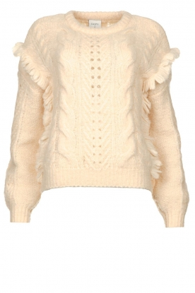 Dante 6 | Sweater with ruffle details Hiver | natural