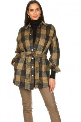 Dante 6    Checkered shirt coat Trucker   brown